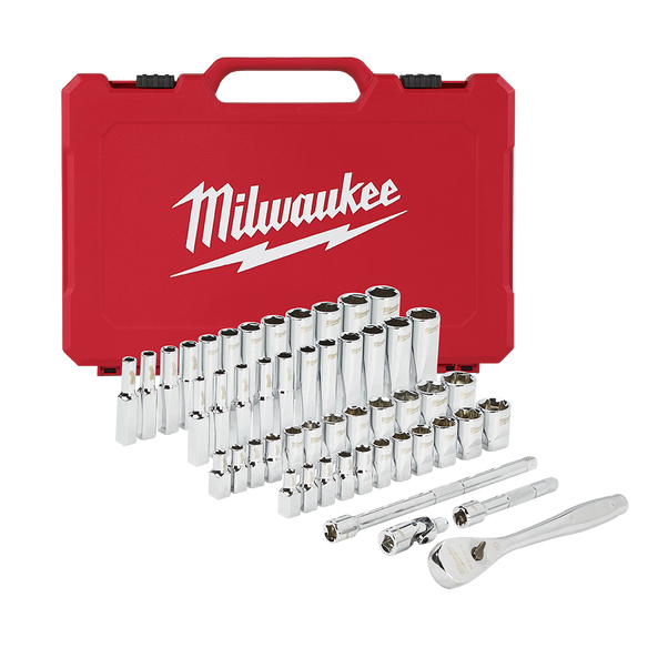 "1/4"" Drive 50pc Ratchet%20%26%20Socket Set – SAE%20%26%20Metric"