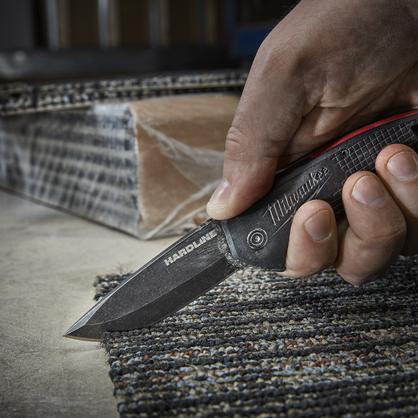 "3"" HARDLINE™ Smooth Blade Pocket Knife"