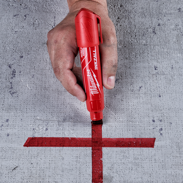 INKZALL™ Red Extra Large Chisel Tip Marker, , hi-res