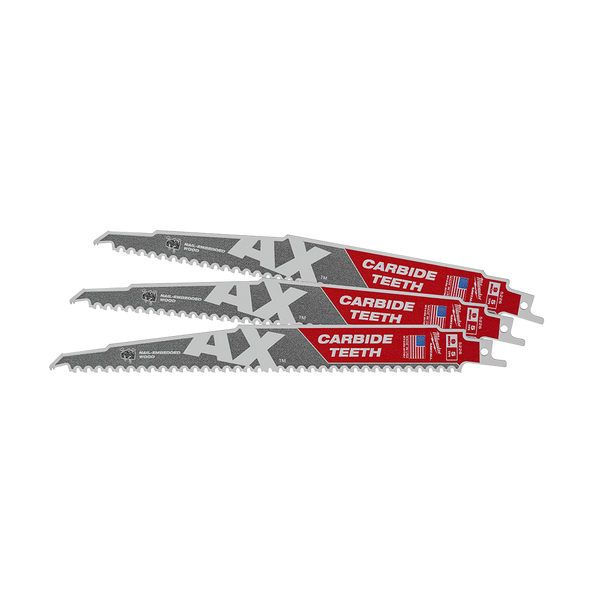 230mm 5TPI The AX™ with Carbide Teeth SAWZALL™ Blade (3Pk)