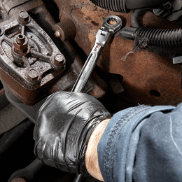"""9/16"""" SAE Flex Head Ratcheting Combination Wrench"""