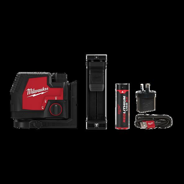 REDLITHIUM™ USB Rechargeable Cross Line Laser Kit, , hi-res