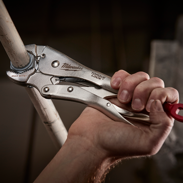 "254mm (10"") Torque Lock™ Maxbite™ Curved Jaw Locking Pliers w/ Durable Grip"