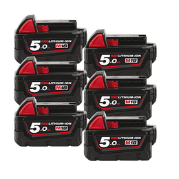 M18™ REDLITHIUM-ION™ 5.0 Ah Extended Capacity Battery 6 Pack
