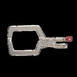 "228mm (9"") TORQUE LOCK™ Deep Reach C-Clamp Locking Pliers Regular Jaws"