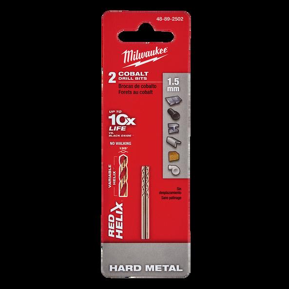 Red Helix™ Cobalt Drill Bit 1.5mm 2Pk