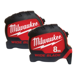 8M Wide Blade Tape Measure Double Pack
