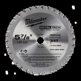 """149mm (5-7/8"""") 34 Teeth Metal Saw Blade - Ferrous Metals"""