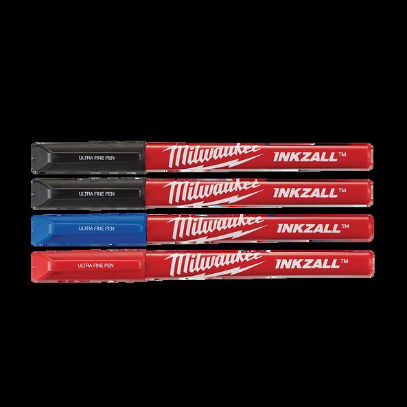 INKZALL™ Coloured Ultra Fine Point Pens (4 Pk)