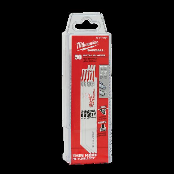 150mm 18 TPI Thin Kerf SAWZALL® Blades (50 Pk)