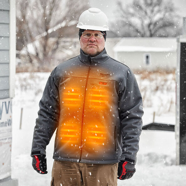 M12™ Heated Jacket Iron Grey, , hi-res