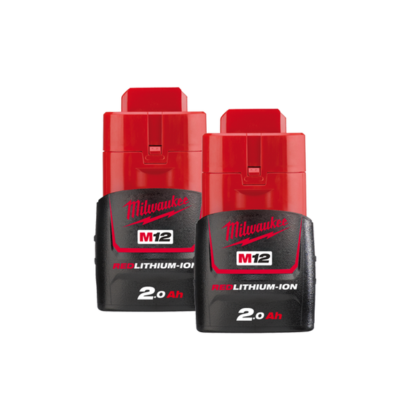 M12™ REDLITHIUM™-ION 2.0Ah Battery Twin Pack