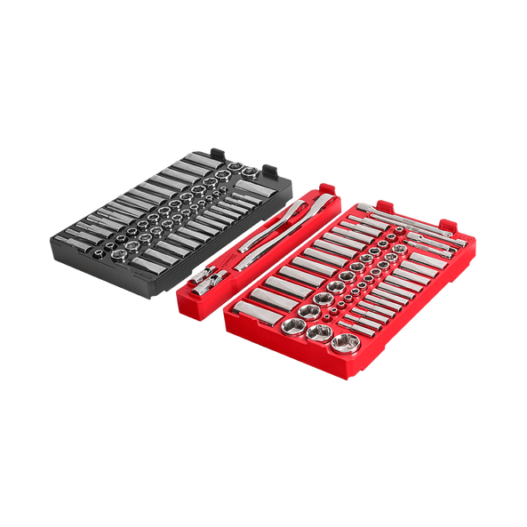 """1/4"""" and 3/8"""" Drive 106 Piece Metric and SAE Ratchet and Socket Set with PACKOUT™, , hi-res"""