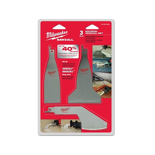3PC Material Removal Blade Set