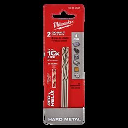Red Helix™ Cobalt Drill Bit 4mm 2Pk