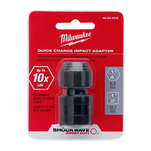 """Milwaukee Shockwave Adapter 3//4/"""" Square to 1/"""" Square"""