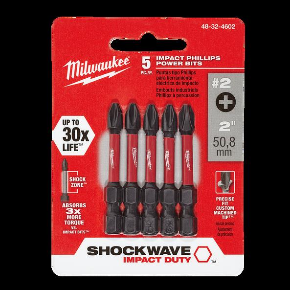 "SHOCKWAVE™ Power Bit Phillips #2 50mm (2"") 5Pk"