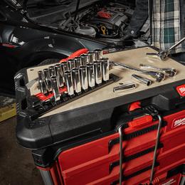 "3/8"" Drive, 10 piece Standard Metric Socket Set with Storage Rail"