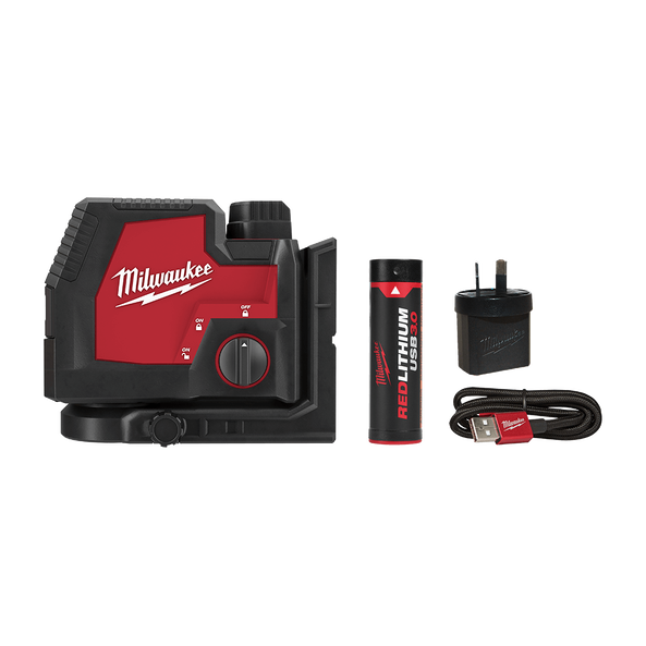 REDLITHIUM™ USB Rechargeable Cross+ 2 Plumb Laser Kit, , hi-res