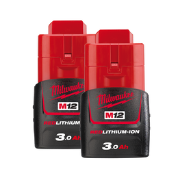 M12™ REDLITHIUM®-ION 3.0Ah Battery Twin Pack