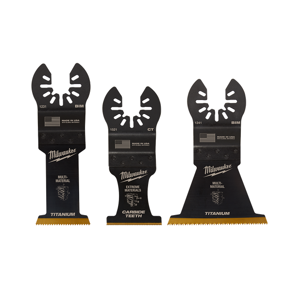 OPEN-LOK™ 3PC Multi Material Multi-Tool Blade Variety Pack, , hi-res