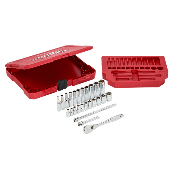 "1/4"" Drive 26pc Ratchet%20%26%20Socket Set - SAE"