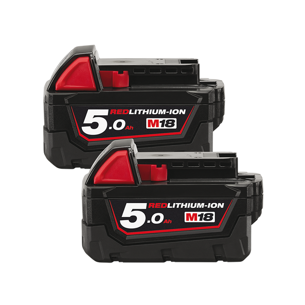 M18™ 5.0Ah REDLITHIUM™-ION Extended Capacity Battery Pack - Dual Pack