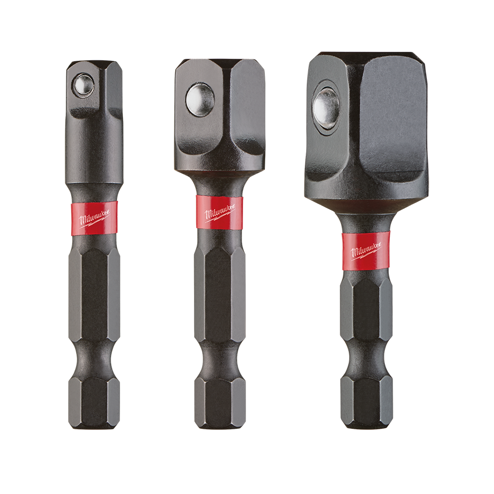 819713 Silverline Impact Drill Socket Adapter Converter Set 1//4″ 3//8″ 1//2″ Sq
