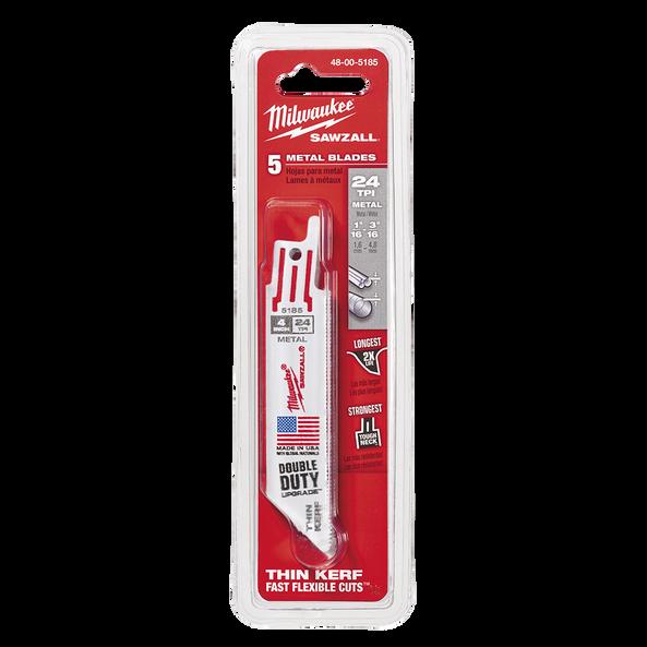 100mm 24 TPI Thin Kerf SAWZALL® Blades (5 Pk)