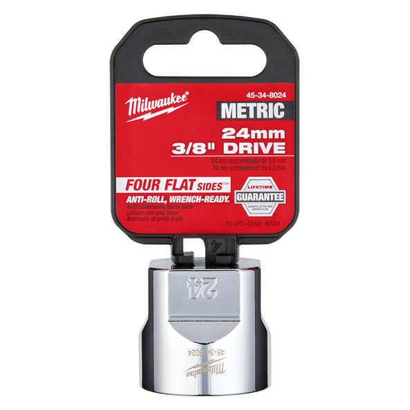 "3/8"" Drive 24mm Metric Standard 6-Point Socket, , hi-res"