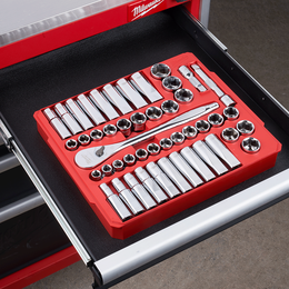 "1/2"" Drive 47PC Metric and SAE Socket Wrench Set"