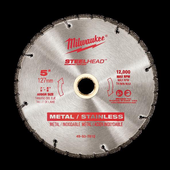 "125mm (5"") SteelHead™ Diamond Cut-Off Blade"