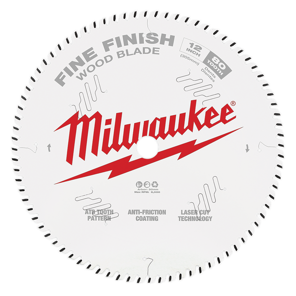 "305mm (12"") Fine Finish 80T Circular Saw Blade"