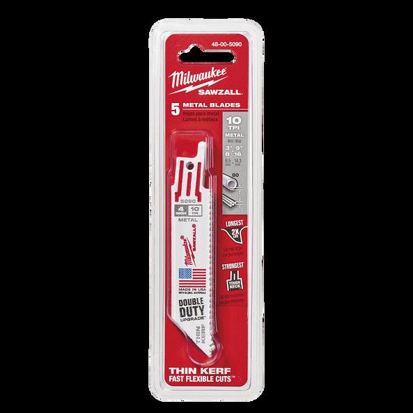 100mm 10 TPI Thin Kerf SAWZALL® Blades (5 Pk)
