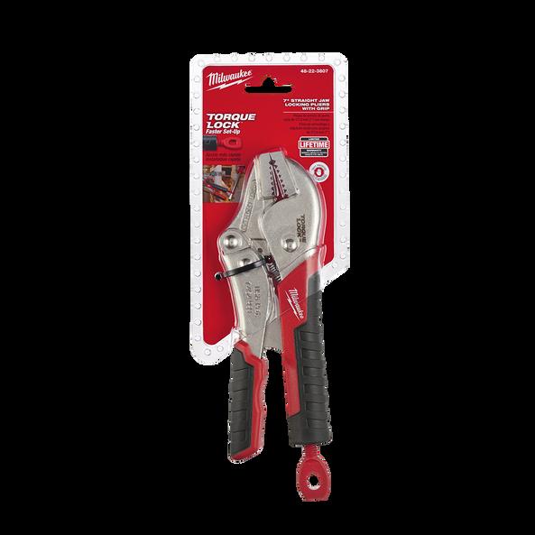 "178mm (7"") Torque Lock™ Straight Jaw Locking Pliers w/ Durable Grip"