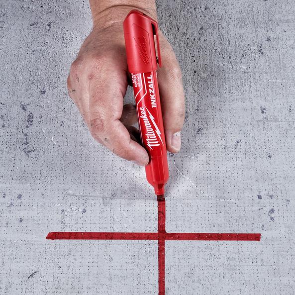 INKZALL™ Red Large Chisel Tip Marker, , hi-res