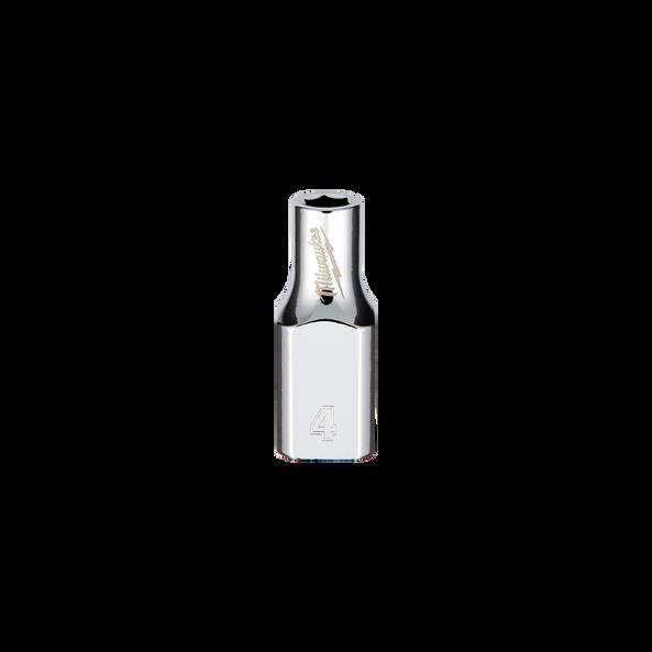 "1/4"" Drive 4mm Metric Standard 6-Point Socket, , hi-res"