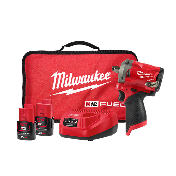 """M12 FUEL™ 1/2"""" Stubby Impact Wrench Kit"""