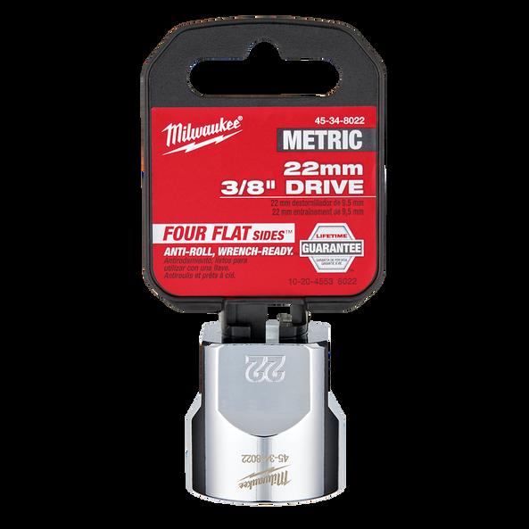 "3/8"" Drive 22mm Metric Standard 6-Point Socket, , hi-res"