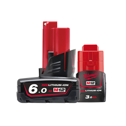 M12™ REDLITHIUM™-ION 6.0Ah/ 3.0Ah Battery Twin Pack