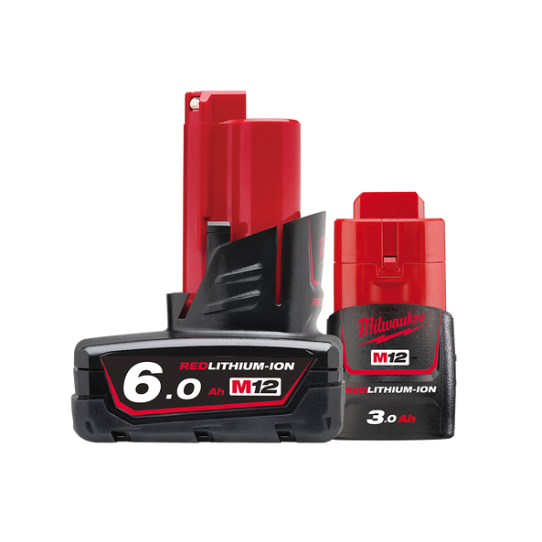 M12™ REDLITHIUM™-ION 6.0Ah/ 3.0Ah Battery Twin Pack, , hi-res
