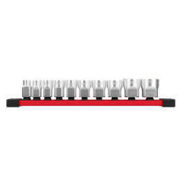 "3/8"" Drive, 10 piece Standard SAE Socket Set with Storage Rail"