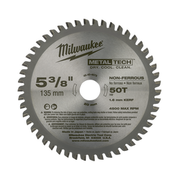 "135mm (5-3/8"") 50 Teeth Non-Ferrous Metal Circular Saw Blade"