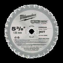 "5-3/8"" (135mm) 30 Teeth Ferrous Metal Circular Saw Blade"