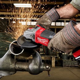 "M18 FUEL™ 125mm (5"") RAPID STOP™ Angle Grinder with Dead Man Paddle Switch"