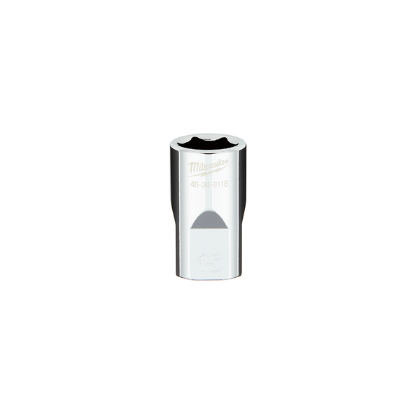 "1/2"" Drive 15mm Metric 6-Point Socket, , hi-res"
