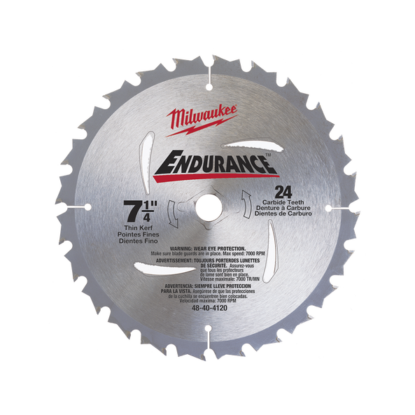 "185mm (7-1/4"") 24T Endurance Circular Saw Blade"