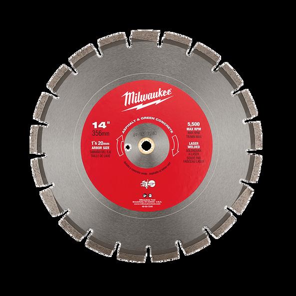"350mm (14"") Diamond Asphalt & Green Concrete Segmented Blade, , hi-res"