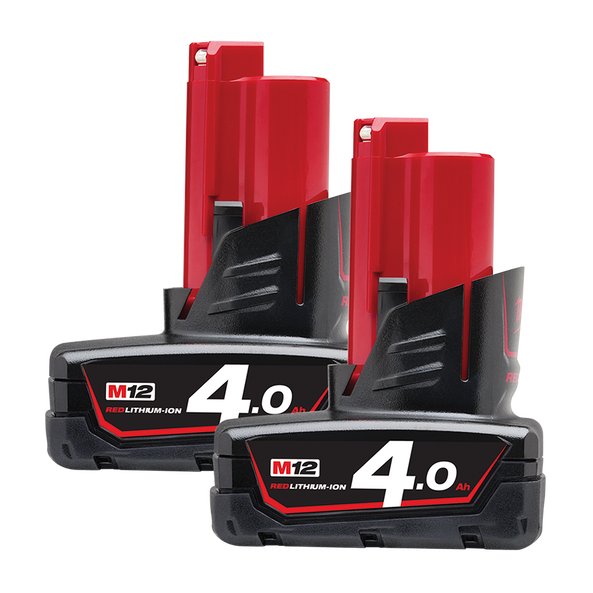 M12™ 4.0Ah REDLITHIUM™-ION Extended Capacity Battery Pack - Dual Pack