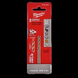 Red Helix™ Cobalt Drill Bit 2.5mm 2Pk
